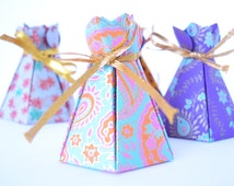 Set of 4 Assorted Bloom Box handmade paper gift box, Wedding Favor Set, Indian Wedding Favor, Indian gift box, Party Favors, Diwali Gift Box