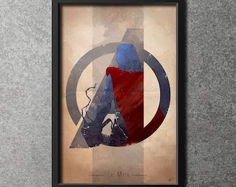 Giclee Art Print 'Avengers Assembled: The Myth'