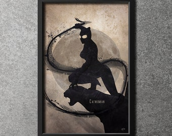 Original Giclee Art Print 'Catwoman'