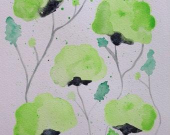 Meadow Original Watercolor Painting