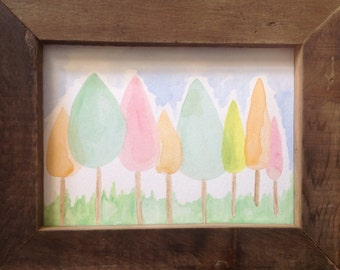Popsicle Guild Original Watercolor Painting by Sunchickie Arts