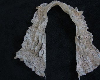 antique lace collar, edwardian, irish crochet