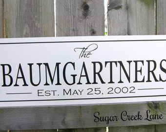 Family Established Sign Last Name Sign Christmas Family Personalized Custom Family name signs personalized wedding gift anniversary