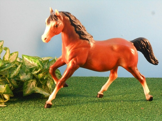 Running Bay Filly from Breyer - Vintage Toy Horse