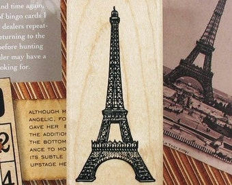 Eiffel Tower Stamp - Rubber Stamp - Deco Stamp - Diary Stamp