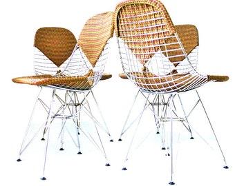 Mid century Charles Eames DKR-2 with Alexander Girard bikini chairs - fifties, herman miller, vintage, sixties, retro, arne jacobsen, nelson