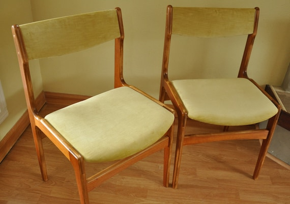 sale danish modern teak side chairs by branchesfurniture on etsy