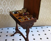 Sewing table hand made in 1/12 scale