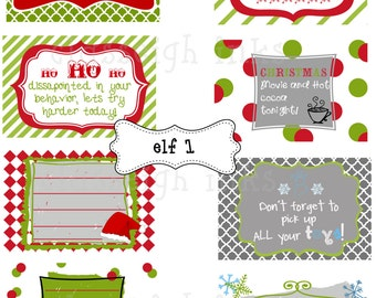 SALE Elf notes for your Shelf Friend! Notes for your Elf
