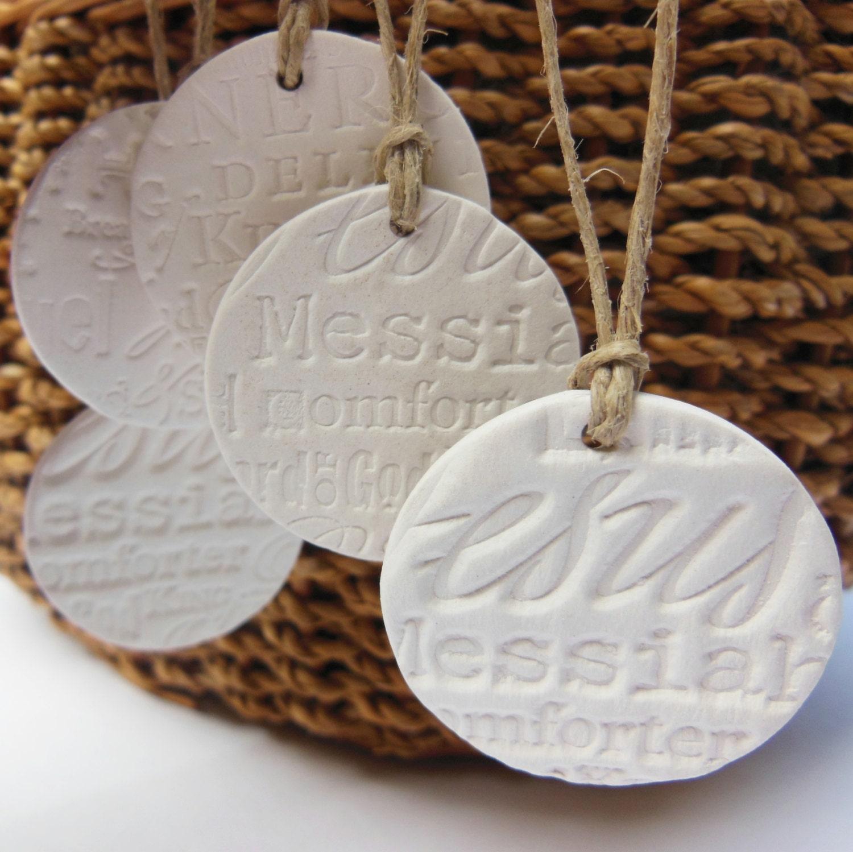 5 Small Handmade Ceramic Christmas Ornaments Essential Oil