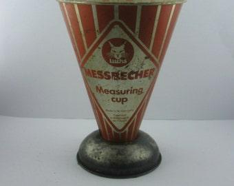 50s / 60s: Luchs Measuring cup. Made in W.-Germany / Fabrique en Allemagne de l'Ouest. English - German. VINTAGE