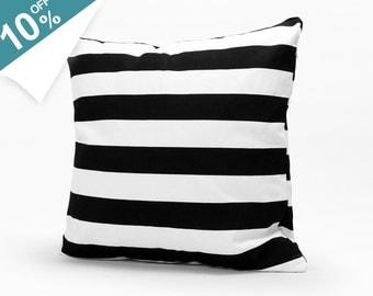 Free Shipping! New Year Bonus! 10% OFF Home Decorative Throw Pillows Large Black Stripe Throw Pillow Cover Cushion Case 1724
