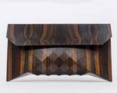 Great Ebony // XL wood clutch