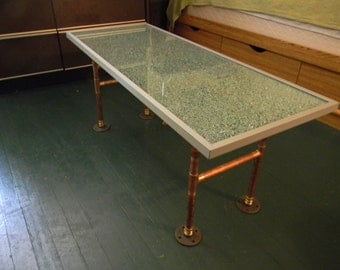 Very cool Glass and Copper coffee table