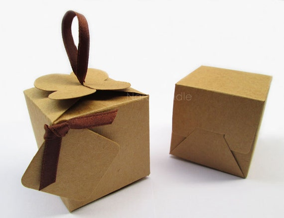 small kraft box gift box wedding favor box set of 20