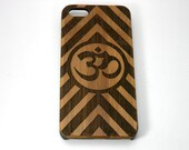 OM Chevron Stripes iPhone 6S or iPhone 6 Case. Eco-Friendly Bamboo Wood Cover. Mantra Yoga Zen Hindu Pranava Buddhist. iMakeTheCase Brand