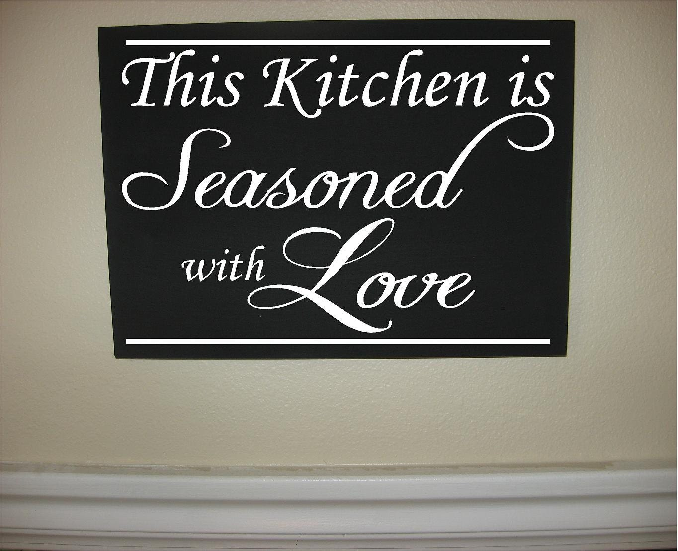 Custom Personalized Wooden Sign This Kitchen By Cedarcreekcustom