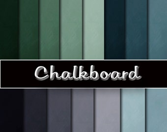 Chalkboard Digital Papers Pack 044- Printable, Chalk  Board Background Textures - Instant Download