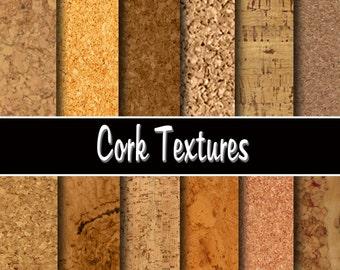 "Cork  Digital Paper Pack - Instant download ""CORK TEXTURE""  Printable paper, Scrapbooking, Invites, Cardmaking"