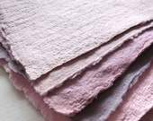7 Handmade paper sheets with torn or deckle edges for art, paper casting, scrapbooking, collage, art and book making.