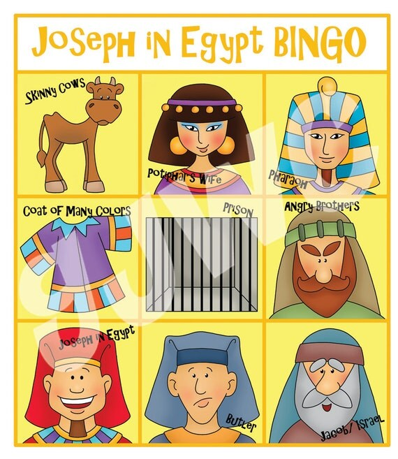 Joseph Egypt Craft Joseph in Egypt Bingo
