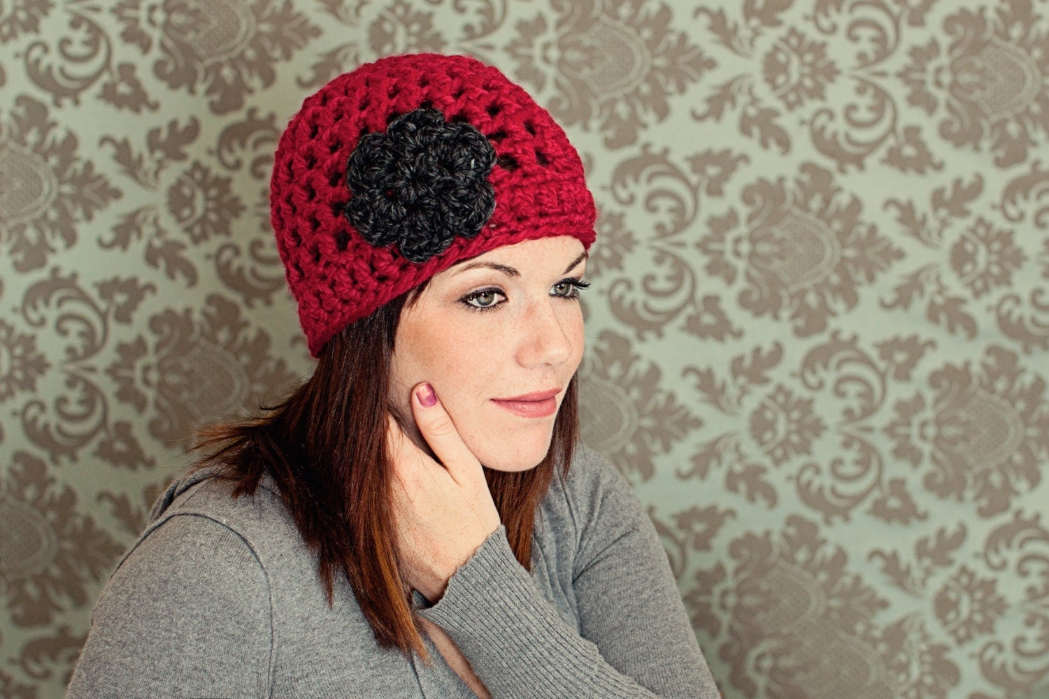 Womens crochet hat womens crochet beanie by TenderMomentsCrochet