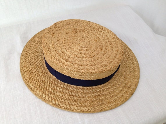 antique 20s 30s mens womens straw boater hat the
