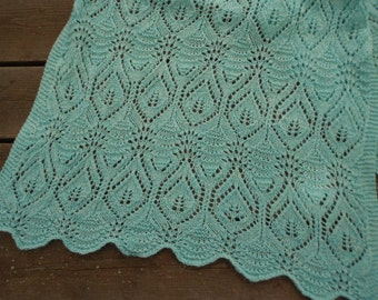 Fairy Leaves on the Waves Lace Shawl
