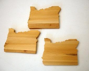 Wood Oregon Coasters (set of 4)
