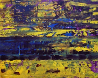 """Art Original Abstract Painting """" Untitled 7 """" 22' x 28"""""""