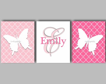 Butterfly Wall Art Butterfly Nursery Decor Butterfly Art Baby Girl Nursery Butterfly Art Butterfly Prints Choose Your Colors BF2623
