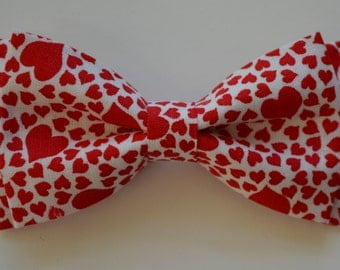 Red heart bow tie   Etsy