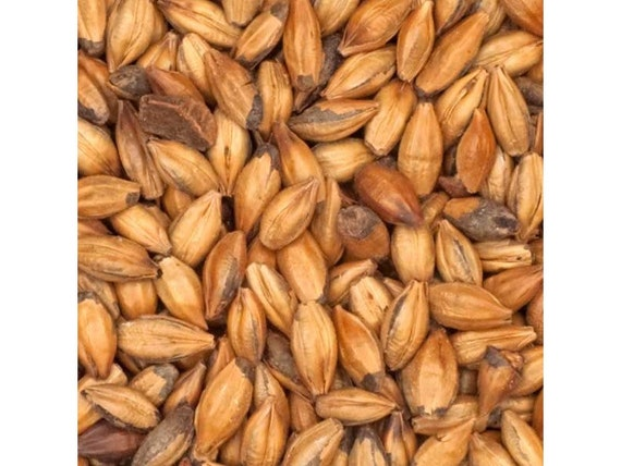 All Natural Raw BROWN Brewers Malted Grain For Home Beer Brewing 1 Pound