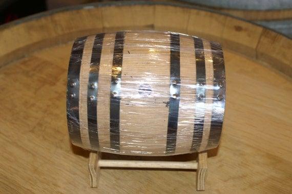 1 Liter American Oak Barrel with Black Hoops- Medium Toast