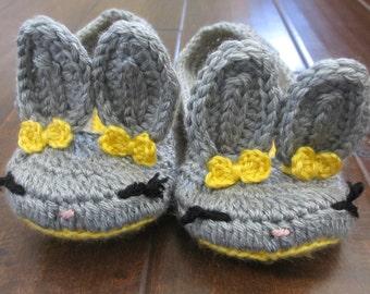 Bunny Slippers for Women - Women's Crochet Slippers - Easter bunny - crochet shoes