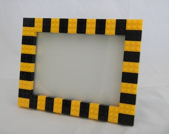 Black and yellow LEGO (R) picture frame (5x7 in)