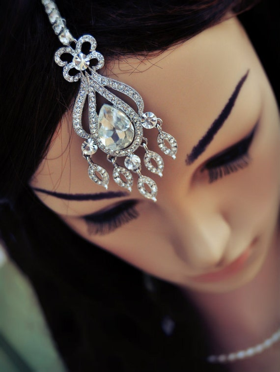 items similar to wedding tikka headpiece indian inspired