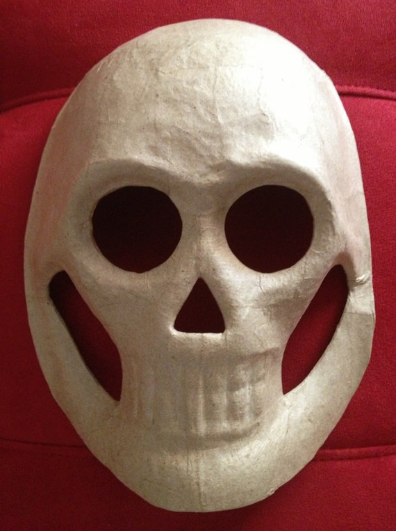 Diy 5 Large Masks Paper Mache Skull Masks Day Of The Dead