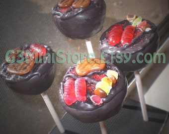 BBQ Grill Cake pops