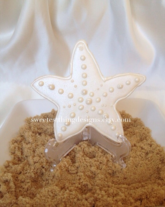 12 Starfish Cookie Favors Wedding Favor By SweetestThingDesigns