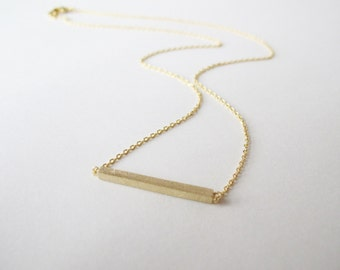 Gold Bar necklace - minimal