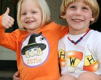 Boy's & Girl's Custom Halloween Children's Personalized T-Shirt, Kid's tee, Kids Halloween shirt, Toddler tshirt, seasonal,