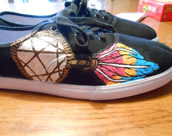 Hand Painted Dream Catcher Shoes