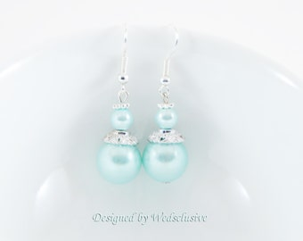 Robin's Egg Blue Earrings, Dangle Earrings, Robins Egg Blue weddings, bridesmaid jewelry