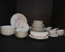 Sango Fine China Pastoral Pattern Porcelain Dinnerware Set, Serves Eight -  48 pieces