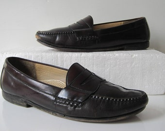 Mens Cole Haan Vintage Casual Comfort Brown Loafers Shoes Size 11 D TF437s