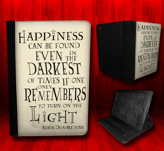 Harry Potter inspired- Albus Dumbledore Happiness quote Case For iPad Mini