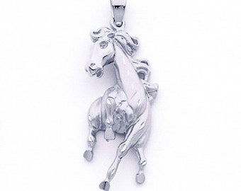 Horse, Horse pendant, Silver horse, galloping horse, horse jewelry, Horse Necklace, Sterling Silver Horse, jumping horse, prancing horse