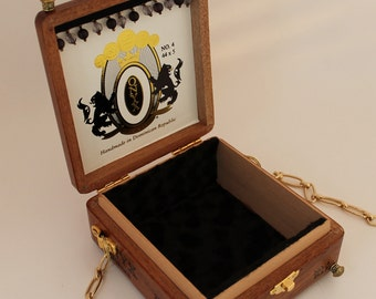 Wood Cigar Box Purse, Authentic Onyx Reserve No. 4