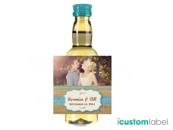 Items similar to custom mini wine label wedding wine for Etsy mini wine bottle labels
